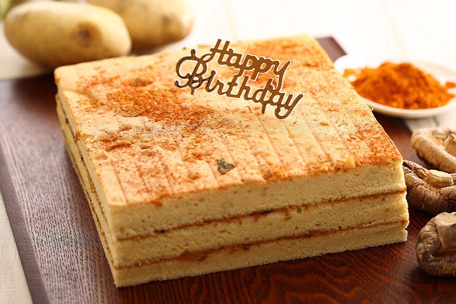 咖哩鹹蛋糕(正方形)