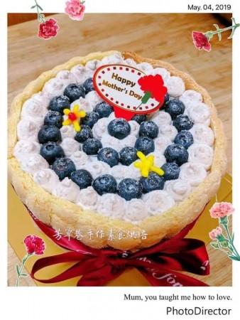 ★奶素藍苺芋泥夾層蛋糕★