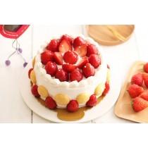 蛋奶素草莓生日蛋糕
