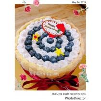 ★藍苺芋泥夾層蛋糕★