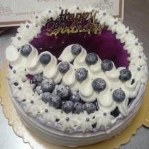 奶素藍莓生日蛋糕 (限自取,不可宅配)