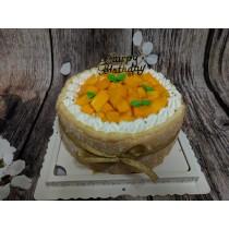 ★奶素芒果生日蛋糕★